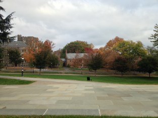 Looking towards Wilson and Butler Colleges