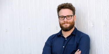 "FILE---In this Oct. 13, 2014 file photo, actor/co-writer and co-director, Seth Rogen of the film ""The Interview,"" poses for a portrait in Los Angeles. After a devastating hacking attack on Sony Pictures and threats of terrorist attacks when ""The Interview"" was set to open in theaters on Christmas Day, Sony canceled the release of Rogen's film on Wednesday, Dec. 17, 2014. The real-world geopolitics that initially served as fodder for parody for ""The Interview"" have upended one of Hollywood's biggest holiday releases. (Photo by Chris Pizzello/Invision/AP, File)"