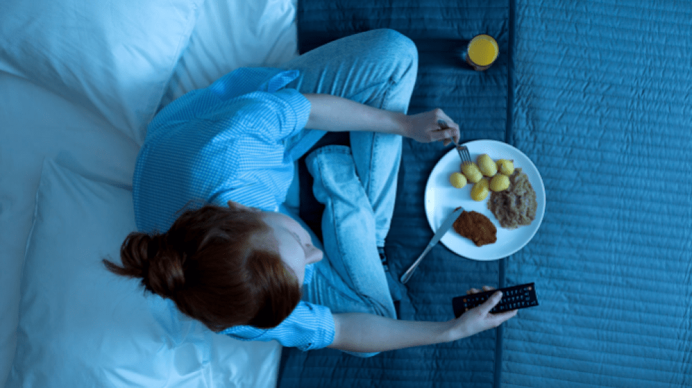 Eating too late at night