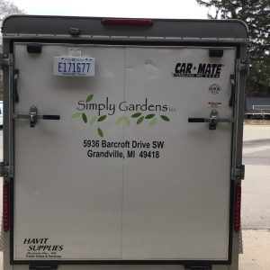 Vehicle Wrap - Simply Gardens Trailer
