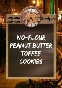 No-Flour PB toffee cookies