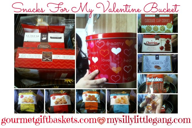 Snacks For My Valentine BucketCollage