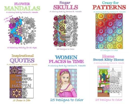 Darlene Nemeth Designs Adult Coloring Book Review
