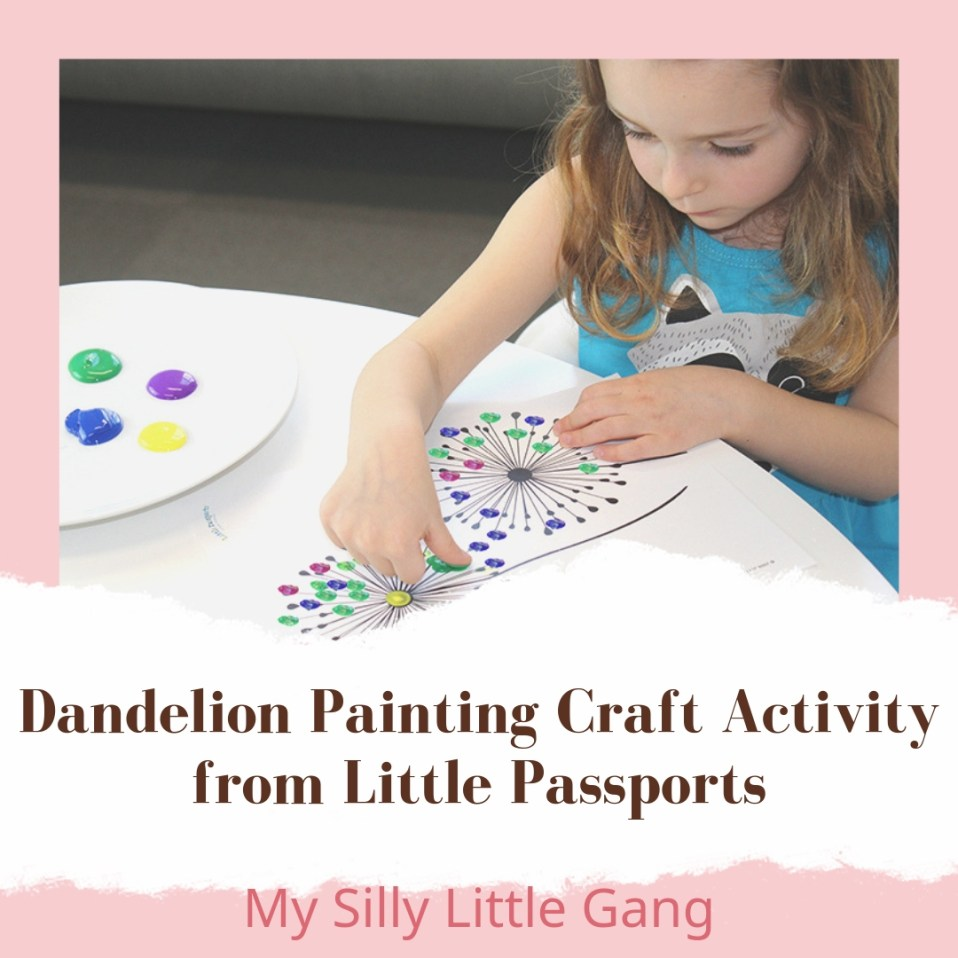 Dandelion Painting Craft Activity from Little Passports