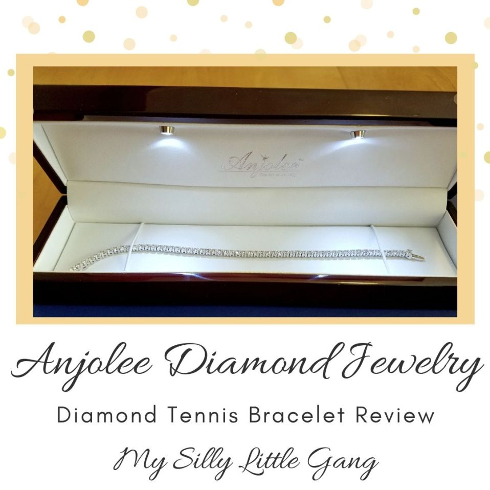 Anjolee Diamond Jewelry ~ Diamond Tennis Bracelet Review @anjolee_diamond #MySillyLittleGang #diamondtennisbracelet
