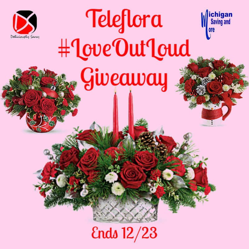2019 Teleflora Love Out Loud Giveaway ~ Ends 12/24 @SMGurusNetwork @las930 #LoveOutLoud #MySillyLittleGang