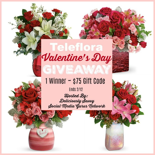 Teleflora Valentine's Day Giveaway ~ Ends 2/12 @SMGurusNetwork @Teleflora #MySillyLittleGang