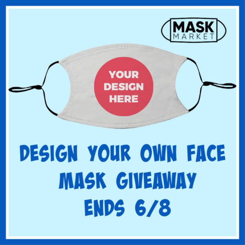 Design Your Own Face Mask Giveaway ~ Ends 6/8 #facemaskselfie @las930 #MySillyLittleGang