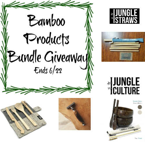 Bamboo Products Bundle Giveaway ~ Ends 6/22 @JungleStraws @las930 #MySillyLittleGang