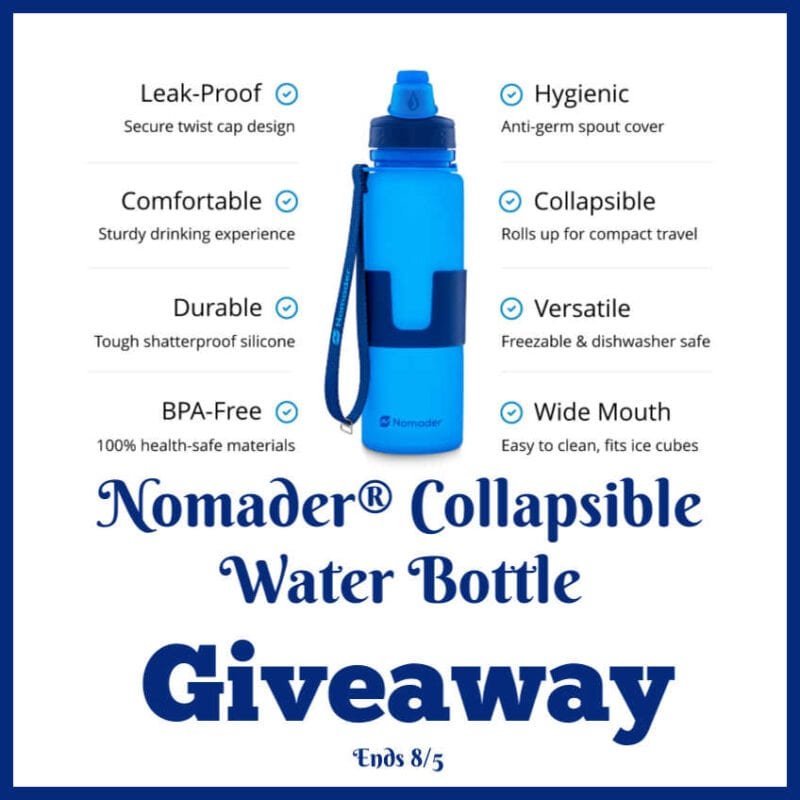 Nomader Collapsible Water Bottle Giveaway ~ Ends 8/5 @las930 #MySillyLittleGang