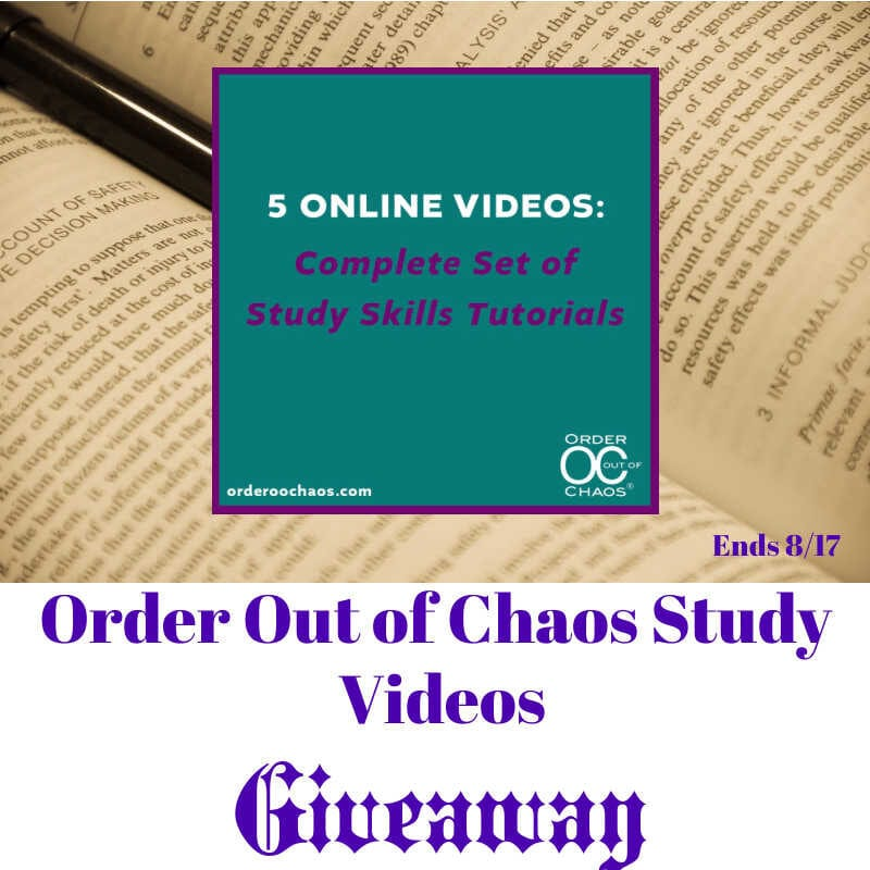 Order Out of Chaos Study Videos Giveaway ~ Ends 8/17 @orderoochaos @las930 #MySillyLittleGang