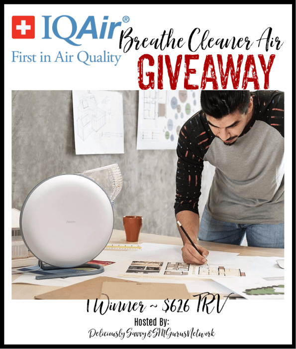 IQAir Breathe Cleaner Air Giveaway