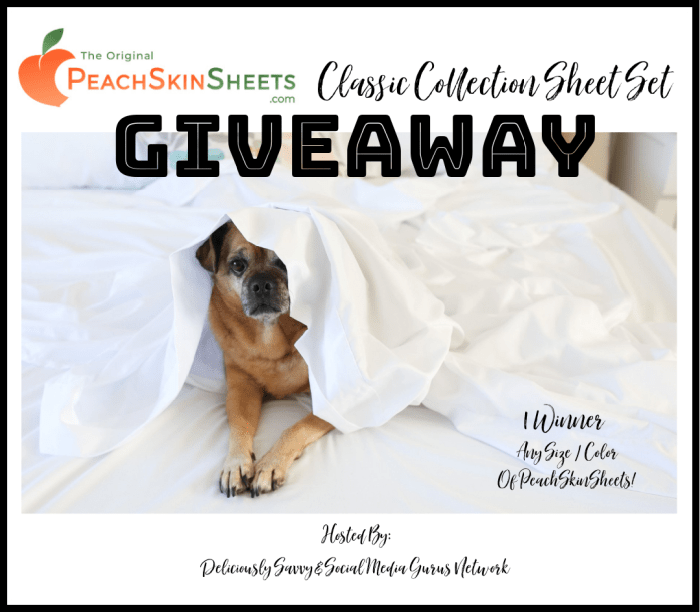 PeachSkinSheets Classic Collection Sheet Set Giveaway ~ @PeachSkinSheets @deliciouslysavv #MySillyLittleGang