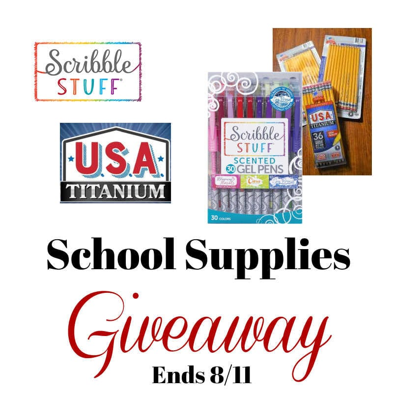 School Supplies Giveaway ~ Ends 8/11 @ScribbleStuff1 @las930 #MySillyLittleGang