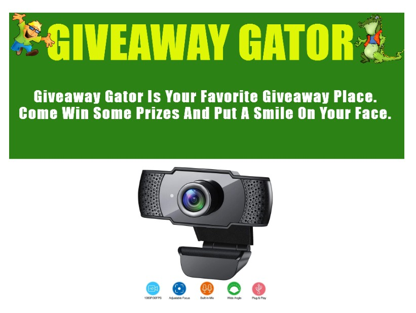 1080P HD Streaming USB Computer Webcam Giveaway ~ Ends 8/20 @giveawaygator2 @las930 #MySillyLittleGang