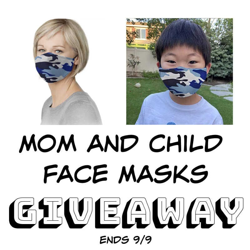 Mom and Child Face Masks Giveaway ~ Ends 9/9 @GrandFusionHW @las930 #MySillyLittleGang