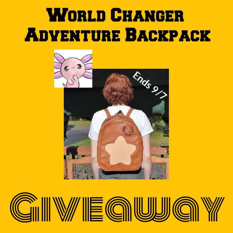 World Changer Adventure Backpack Giveaway ~ Ends 9/7 @las930 #MySillyLittleGang