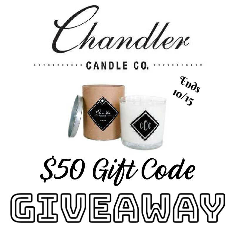 Chandler Candle Co. $50 Gift Code Giveaway ~ 10/15 @Chandler_Candle @las930 #MySillyLittleGang