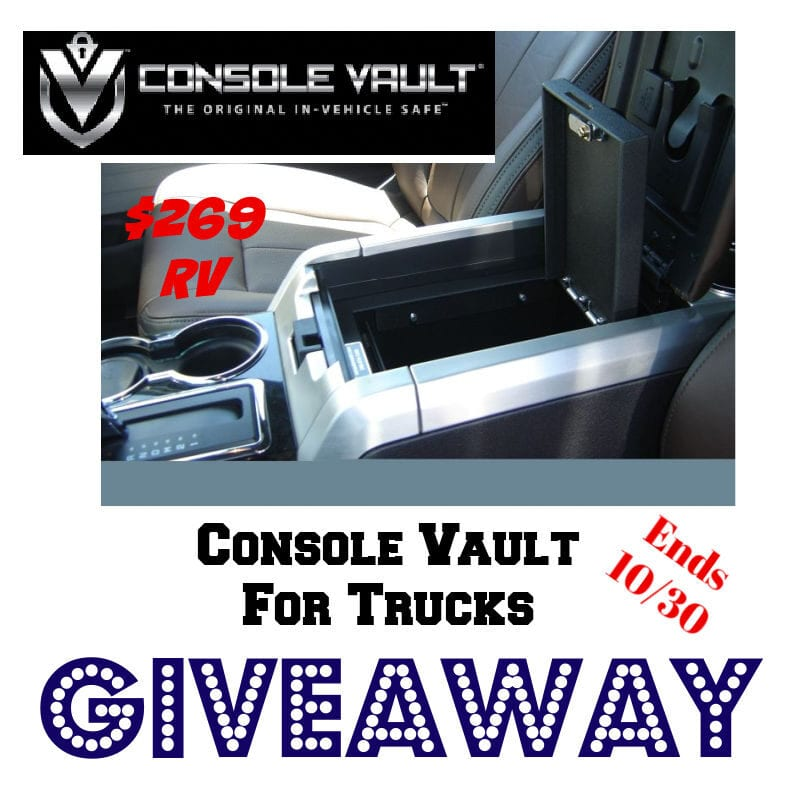 Console Vault For Trucks Giveaway ~ Ends 10/30 @ConsoleVault @las930 #MySillyLittleGang