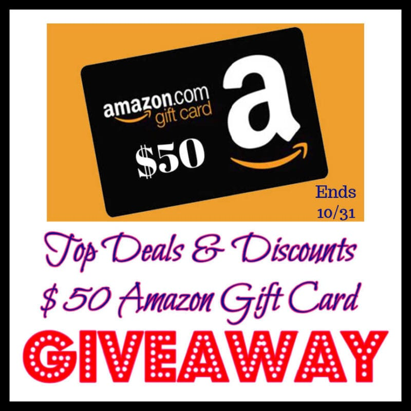 Top Deals & Discounts $50 Amazon Gift Card Giveaway ~ Ends 10/31 @KitHelens @las930 #MySillyLittleGang