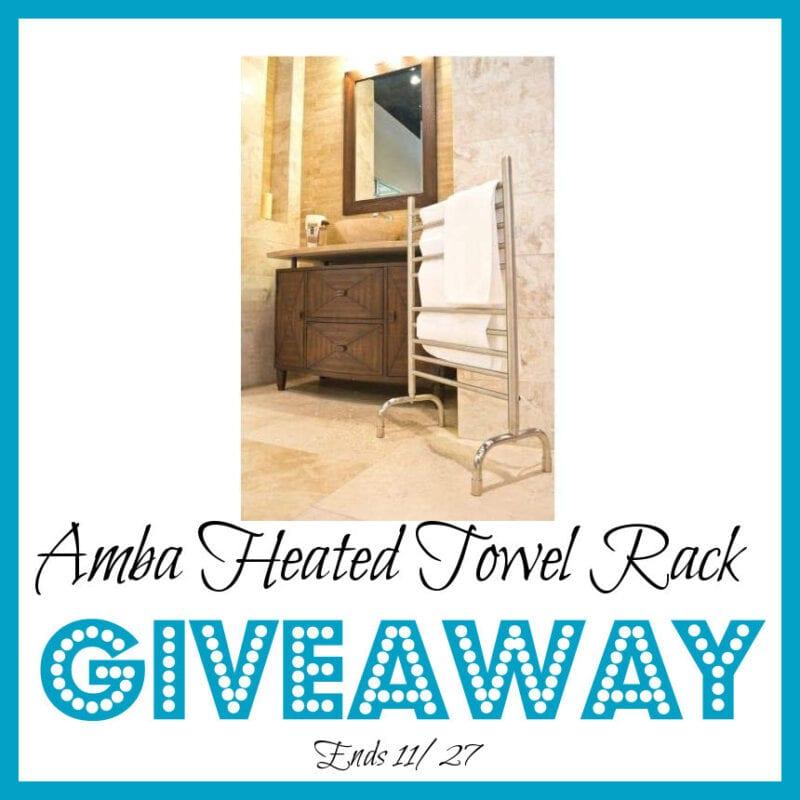 Amba Heated Towel Rack Giveaway ~ Ends 11/27 @teachmy @las930 #MySillyLittleGang