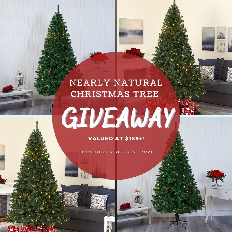 Nearly Natural Christmas Tree Giveaway ~ Ends 12/31 @HomeJobsByMom #NearlyNaturalChristmas #MySillyLittleGang