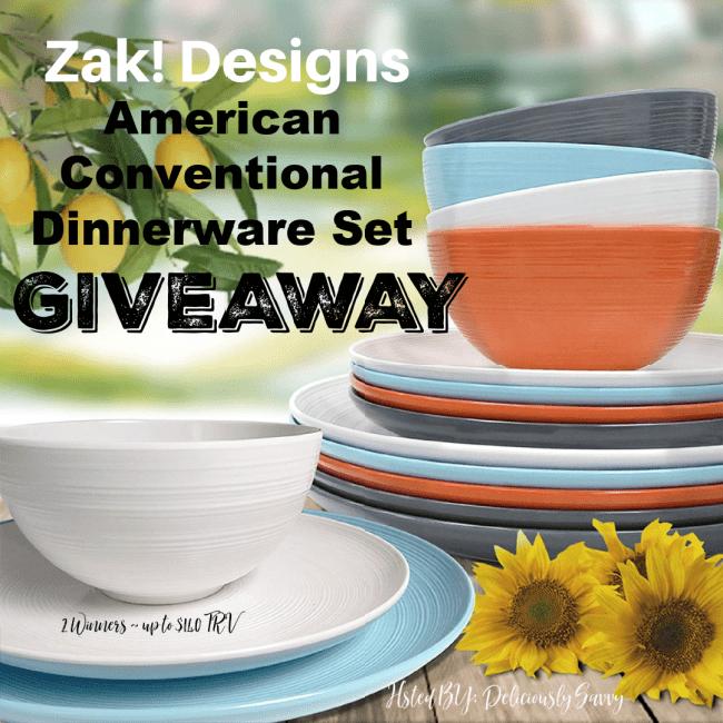 Zak! Designs American Conventional Dinnerware Set Giveaway ~ Ends 12/31 @ZakDesigns @DeliciouslySavv #MySillyLittleGang