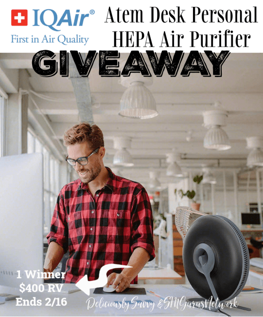 IQAir Atem Desk Personal HEPA Air Purifier Giveaway ~ Ends 2/16 @IQAir @deliciouslysavv #MySillyLittleGang