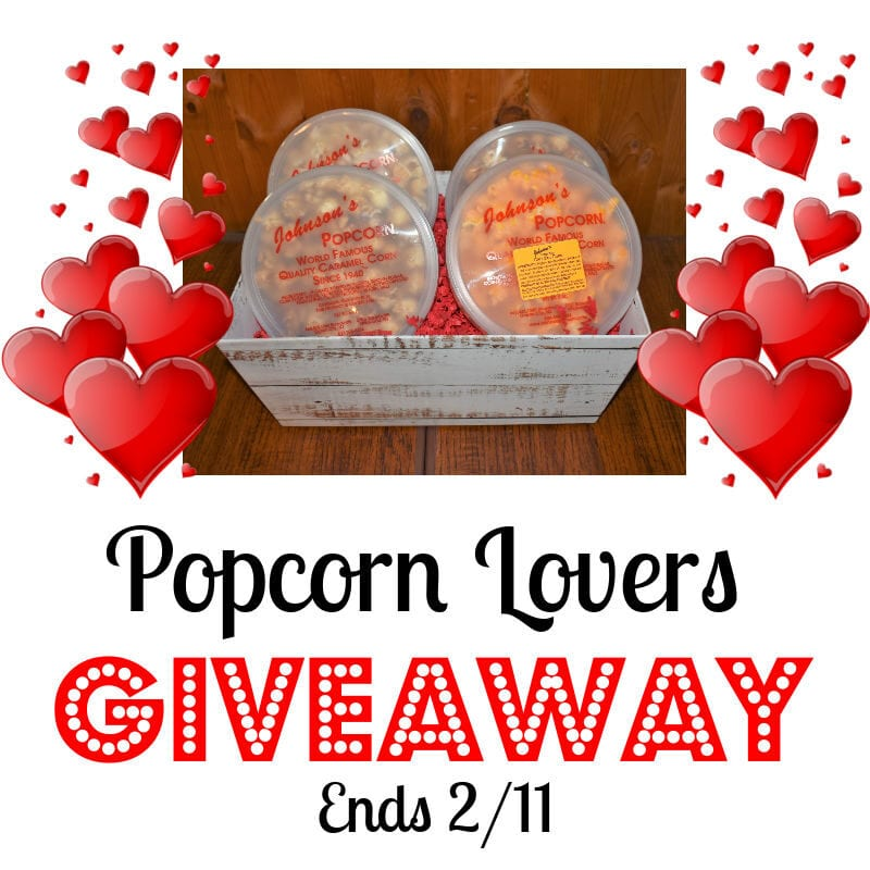 Popcorn Lovers Giveaway ~ Ends 2/11 @johnsonspopcorn @las930 #MySillyLittleGang