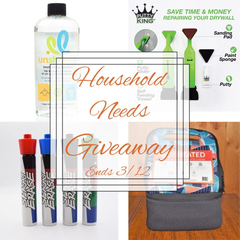 Household Needs Giveaway ~ Ends 3/12 ~ 3 winners #MySillyLittleGang