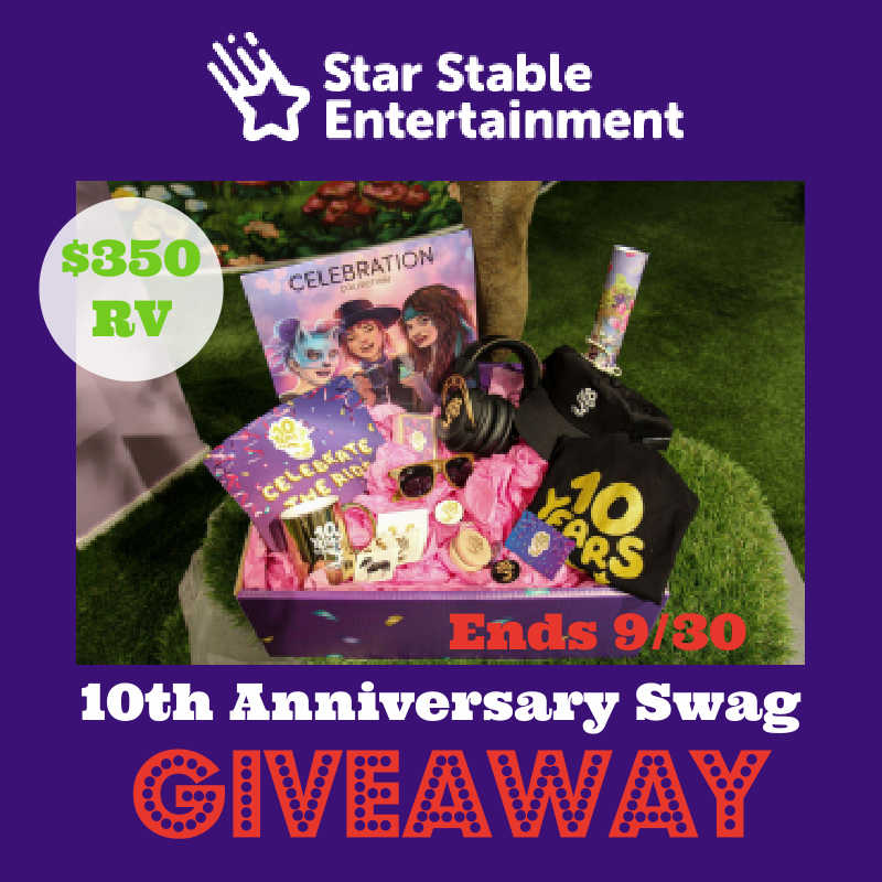 Star Stable 10th Anniversary Swag Giveaway ~ Ends 9/30 #MySillyLIttleGang