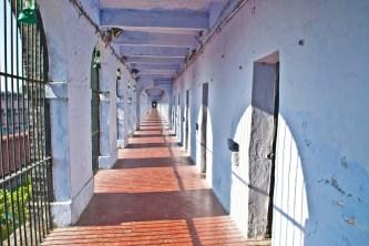 Corridor in front of cells