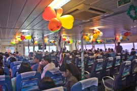 Inside of catamaran