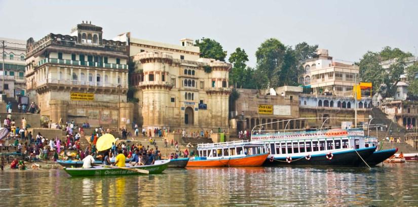 Varanasi ghats and boats