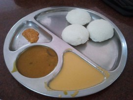 Idli for breakfast in Guruvayur