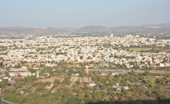 Overview of Udaipur from Karni Mata Temple
