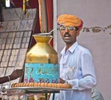 Pushkar camel fair market tea