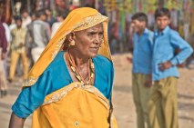 Woman at Pushkar camel Fair ground