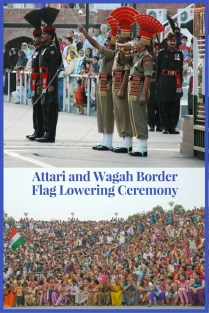 Attari and Wagah Border Flag Lowering Ceremony