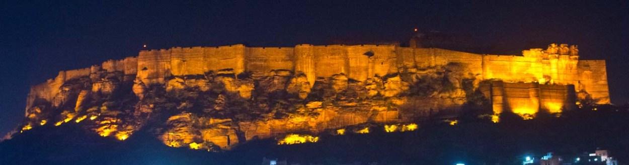 mehrangarh fort at night 1