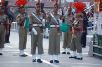 BSF Guards parade at Attari wagah border