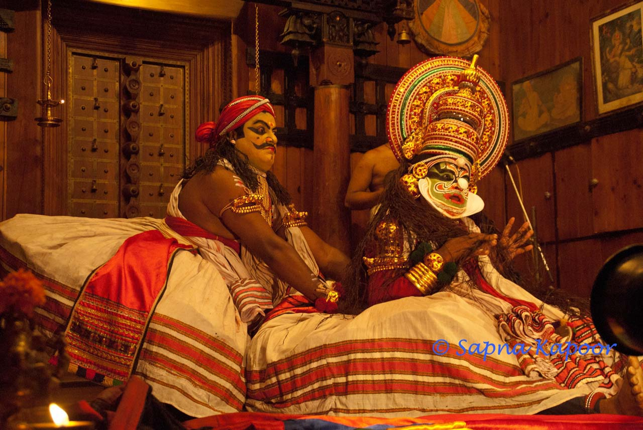 Kathakali Dancers and Performace