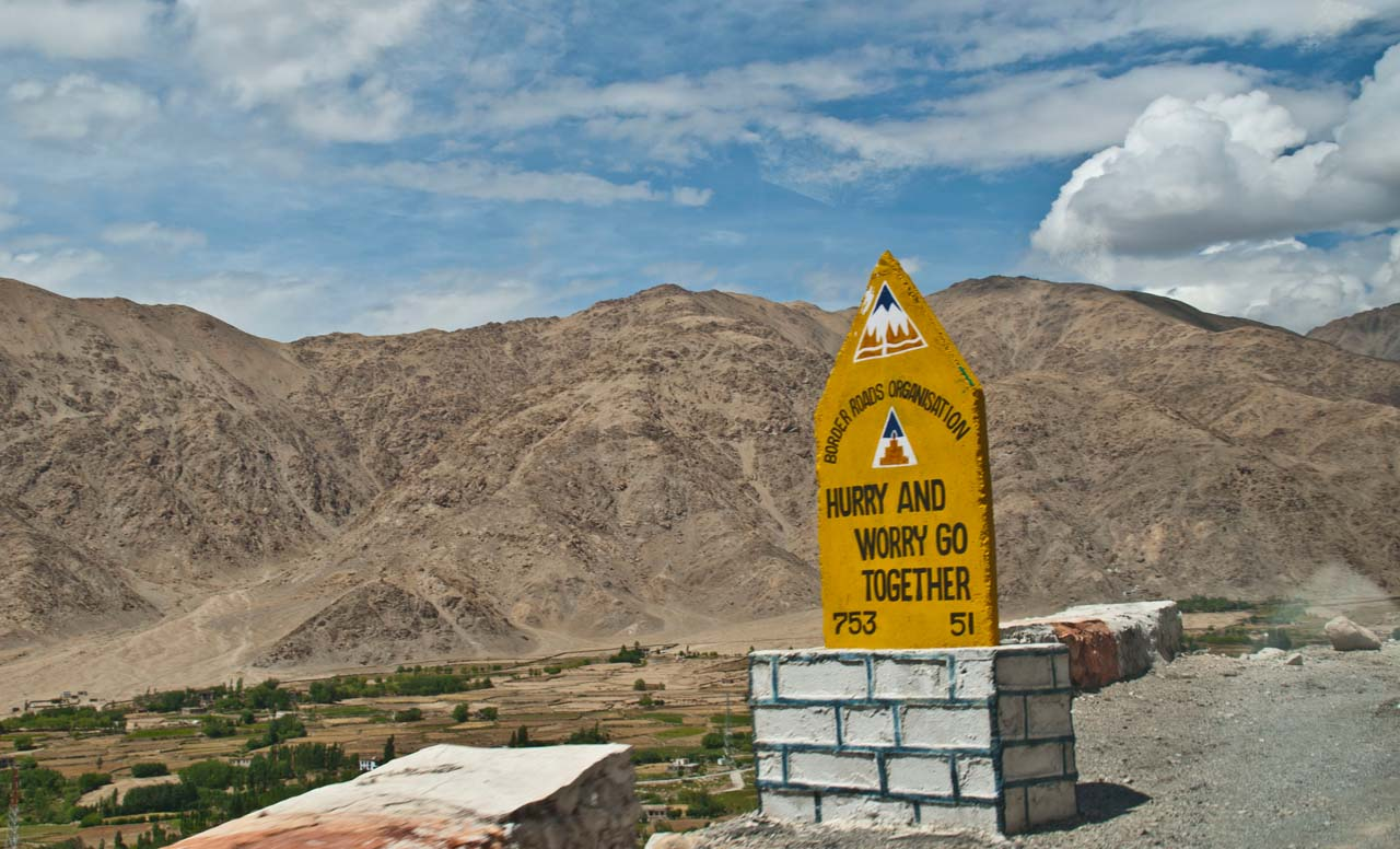 Road Safety Boards – On the way to Pangong Lake