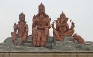 Godess with her sons Kailash Mahadev statue near Kathmandu Nepal