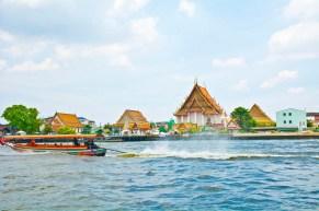 Building at banks of Chao Phraya river