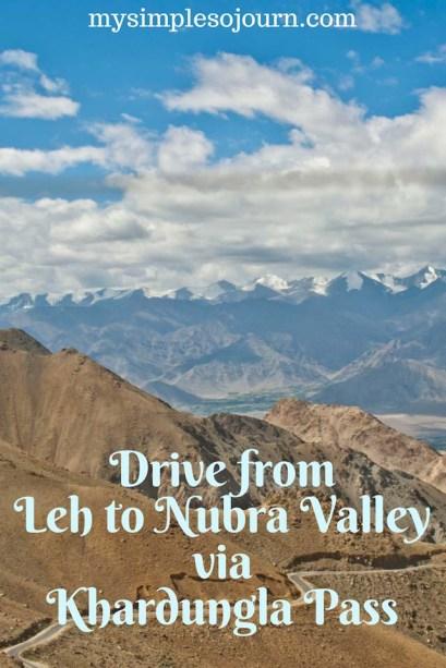 Drive from Leh to Nubra Valley via Khardungla pass