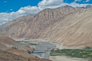 Leh to nubra valley via khardung la landscape