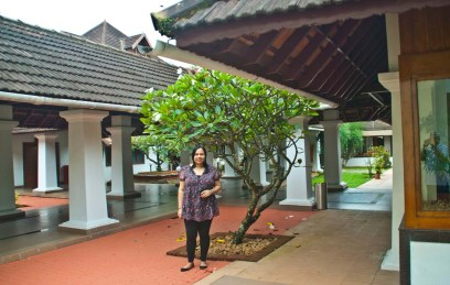 Me at Hotel Bolgatty Palace and Island Resort