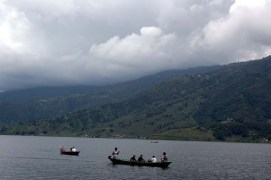 Boating in Phewa Lake Pokara Nepal