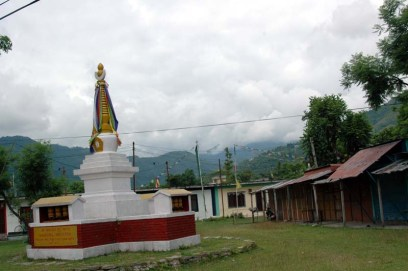 Stupa at Tibetan camp in Pokhara